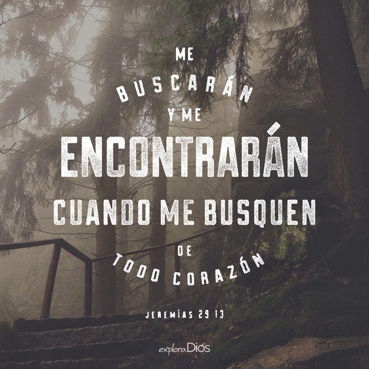Me buscarán y me encontrarán, cuando me busquen de todo #corazón. –Jeremías 29:13 #Biblia #Amor #Fe #Dios #ExploraDios