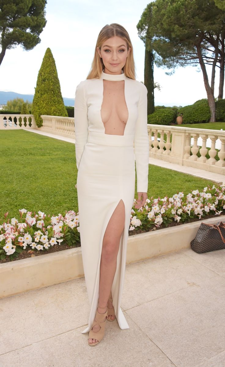 All Eyes on AmfAR's Cinema Against AIDS Gala - Gigi Hadid, in Tom Ford, with Vita Fede jewelry and Aquazurra shoes