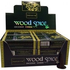 Nandita Wood Spice Incense cones, smelling the magic.....