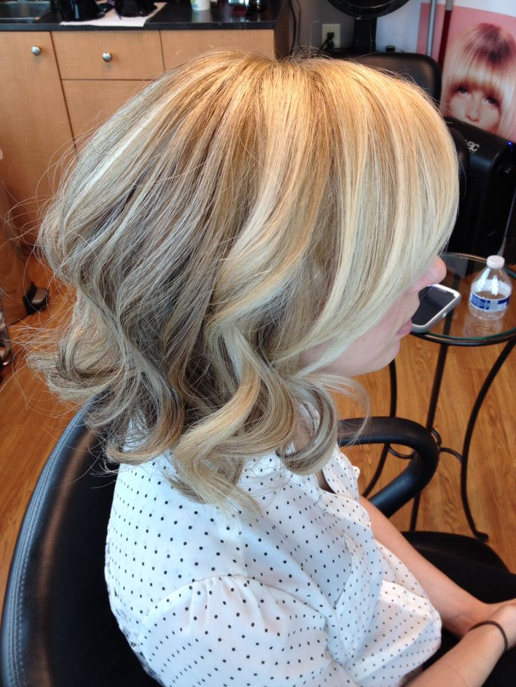 Blonde Highlights Lowlights Curled Bob Hair By Melissa