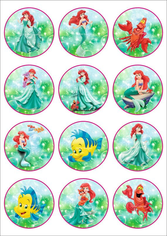 25 Digital Collage Sheet.Princess Ariel.Disney от LaVanda36
