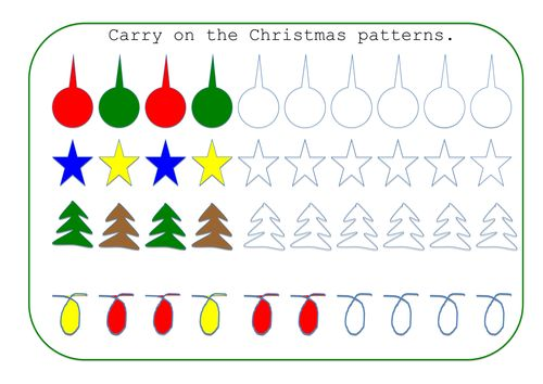 Pattern Worksheets repeating pattern worksheets for early years – Early Years Maths Worksheets