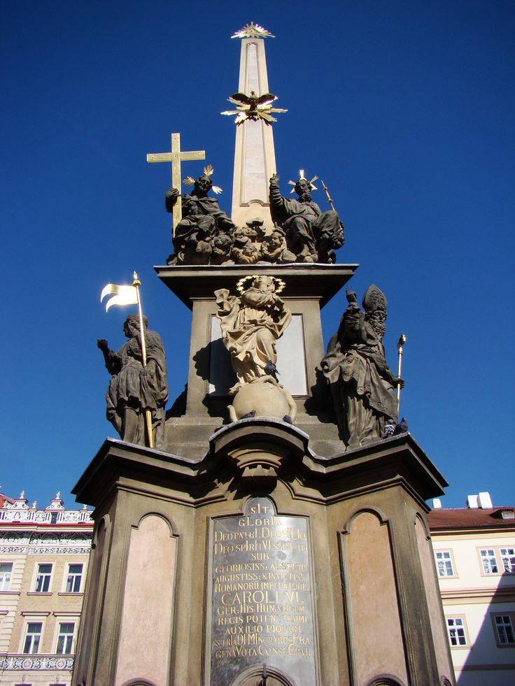 Monumento à Peste, que dizimou milhares de pessoas em toda a Europa