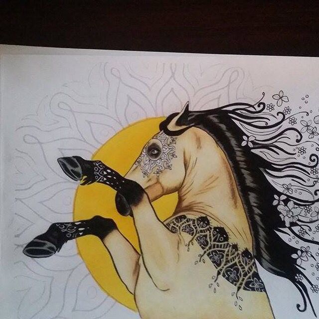 Did A Wonderful Job Shading Cant Wait To See It Finished This Is From The Adult Coloring Book Amazing