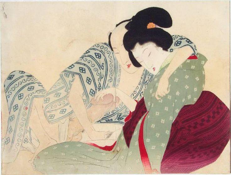 Geisha In green kimono