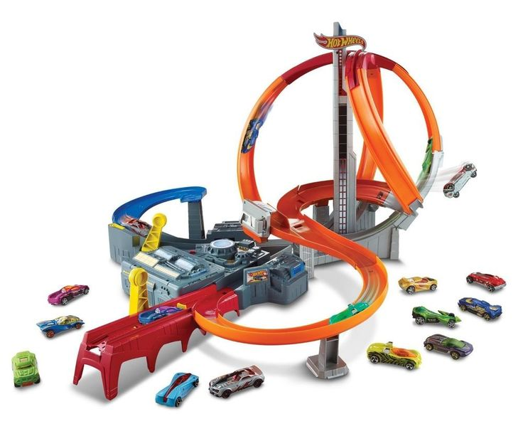 Race Track Set Spin Storm Kids Toy Cars Race Competition Crash Hot Wheels Fun #HotWheels