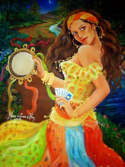 Pintura de Maria do Carmo da Hora.