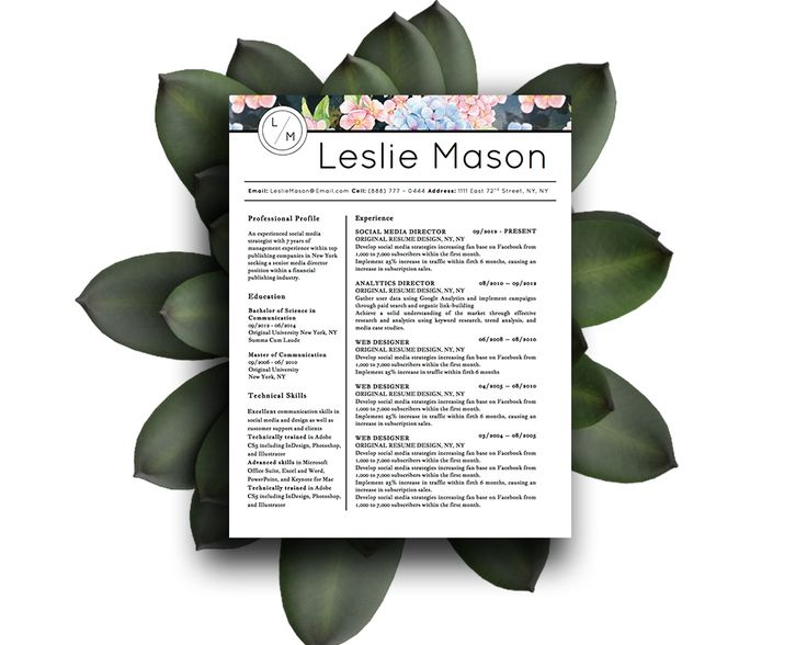 beautiful resume template for microsoft word with 3 distinct styles and matching cover letters - Beautiful Resume Template
