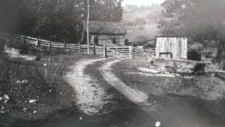 Old Red Oak School in Foglesong Valley near Ceres.  Close to the location of present-day Red Oak Church.