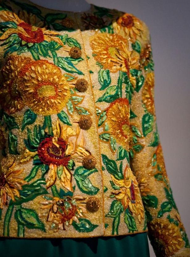 Lesange´s embroidery for  YSL 1988