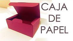 como hacer una caja para fichas bibliograficas - YouTube