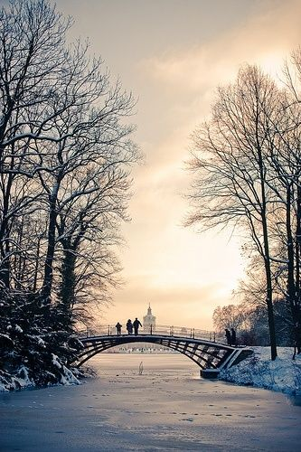 Park of Schloss Charlottenburg, Berlin, Germany - I actually have been here. But not in the snow