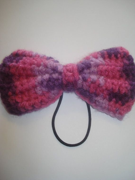 Crochet Hair Ties Pinterest : ... holder hair tie scrunchie Etsy Pinterest Pink, Bows and Hair