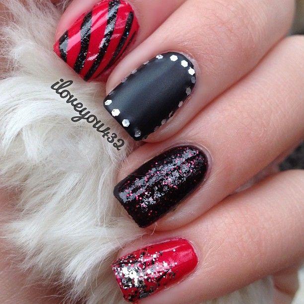 Black Nail Varnish Verruca: 17 Best Ideas About Red Black Nails On Pinterest