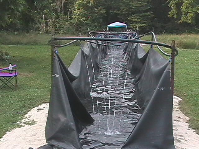 Bradley's Home-Made Water Slide