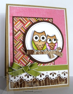 Owls Card by Kerri Michaud #Cardmaking