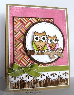 Owls Card by Kerri Michaud #Cardmaking