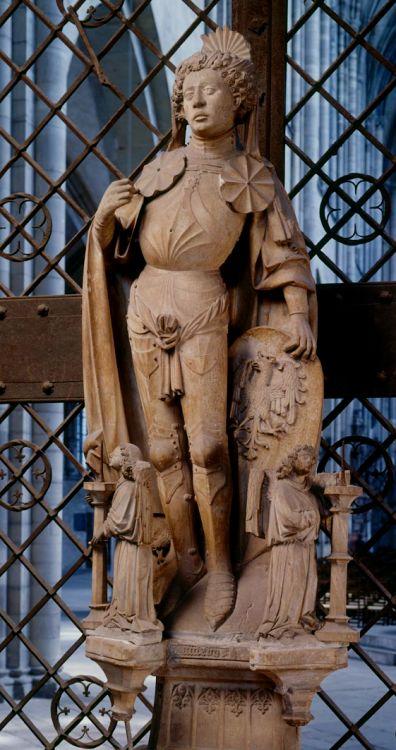 Germany (1467) Anonymous German Artist - Saint Maurice. Alabaster, 175 cm. Magdeburg Dom, Ernstkapelle