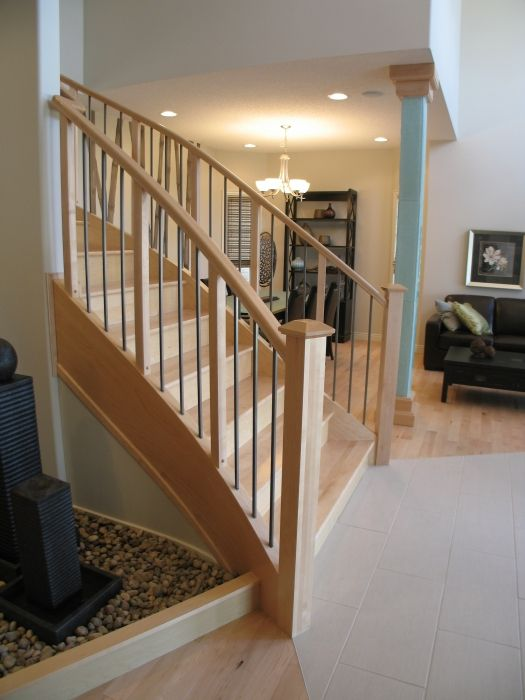 57 best images about stairs on pinterest arts and crafts for Modern wood stairs
