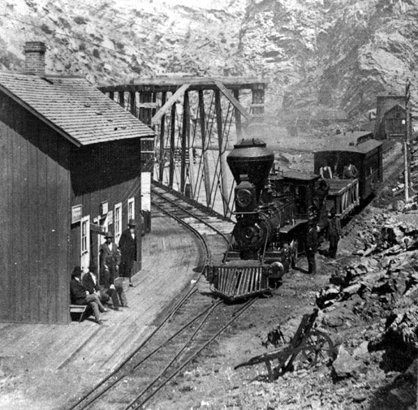 Narrow Gauge Colorado Central Railroad In Clear Creek