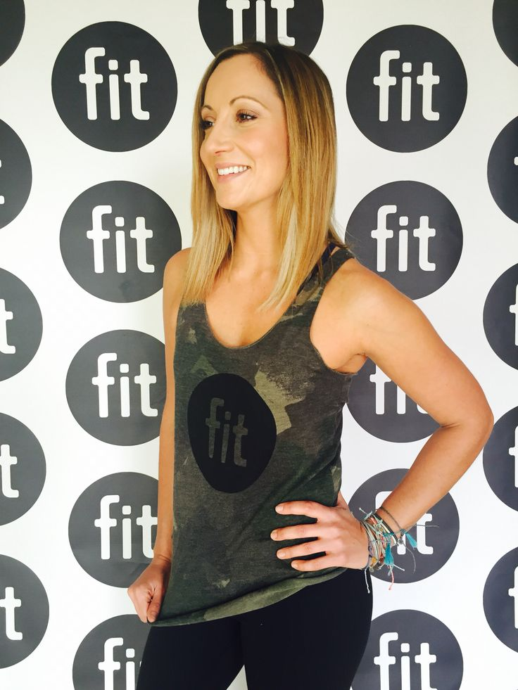 Fit Apparel: Camo Tank with Black Logo