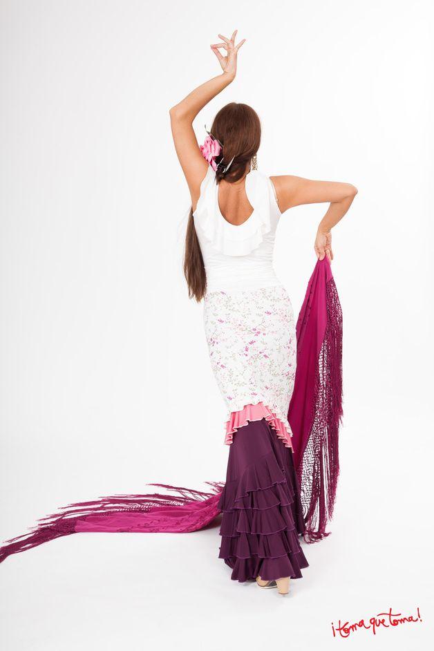 Rüschenröcke - Kurzer Flamencorock (Überrock) - ein Designerstück von Tomaquetoma. Auf  www.tomaquetoma.de