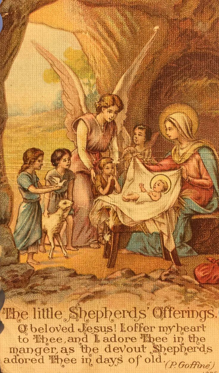 Catholic Prayers, Catholic Art, Roman Catholic, Catholic Churches, Christmas  Nativity, Rustic Christmas, Vintage Christmas, Holy Family, Nativity Sets