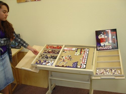 World's Best Jigsaw Puzzle Table - what an idea!