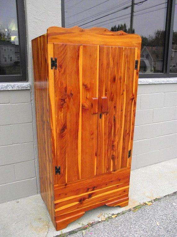 Genuine Solid CEDAR Armoire Wardrobe Closet With Double Doors