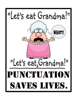 Link to buy this poster for my classroom for only $3, LOVE! I take punctuation…