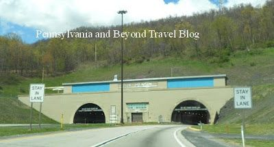 The Mountain Tunnels on the Pennsylvania Turnpike run between Harrisburg and Pittsburgh on the PA turnpike.