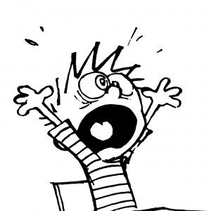 Calvin from Calvin and Hobbes. How I feel on Sunday evening after a weekend of procrastination.