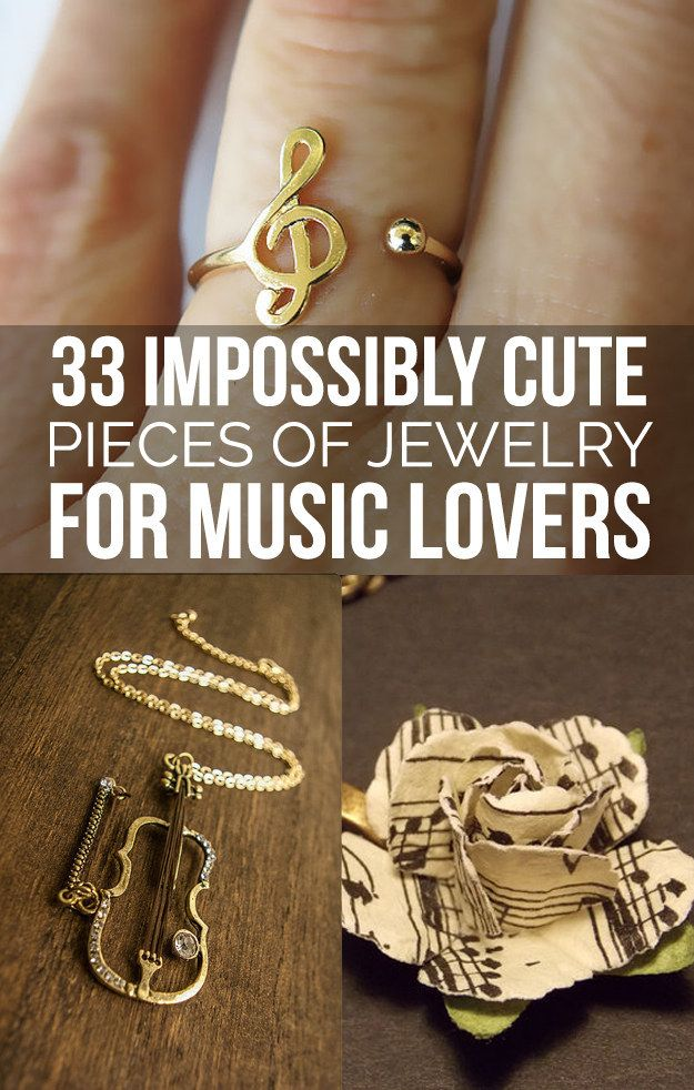 32 Impossibly Cute Pieces Of Jewelry For Music Lovers Because I know I'm going to need this at one point.