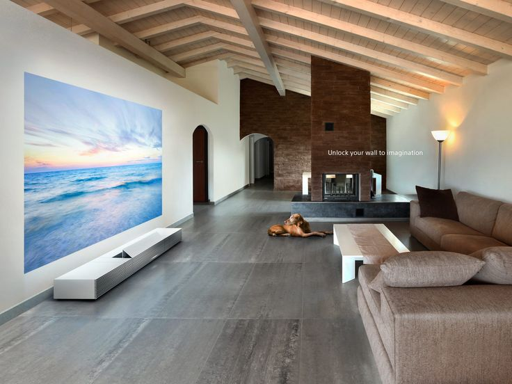 Life Space UX, Walls take on new dimensions. 4K Ultra Short Throw Projector