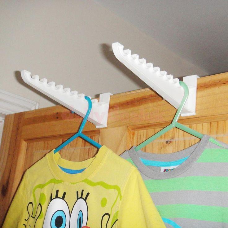 2pcs Clothes Bag Over the Door Hanger Hooks Closet Organizer Rack Holder | eBay