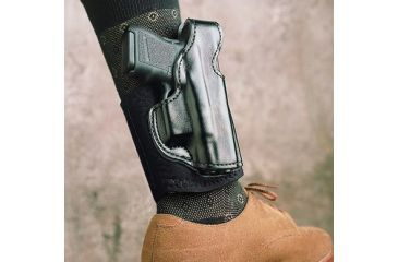 DeSantis Die Hard Ankle Rig Holster, Right Hand, Lined Black - S&W M&P Shield 014PCX7Z0