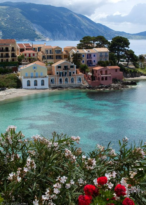 The village of Asos, Kefalonia, Greece
