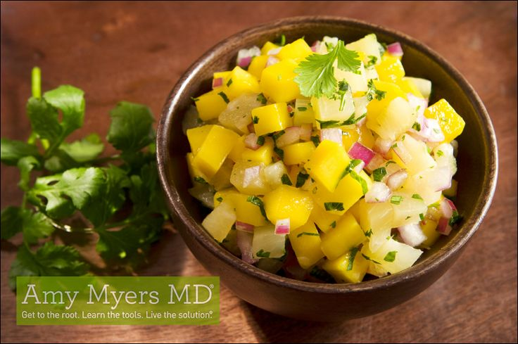 This Mexican Chicken with Sliced Avocado and Mango Salsa is the perfect way to satisfy your Mexican food craving while on The Myers Way® protocol! Has cumin.