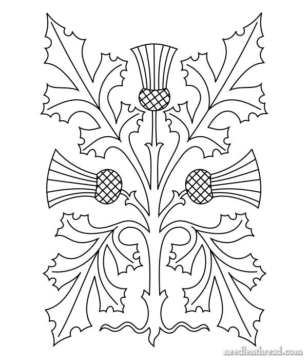 Thistle Hand Embroidery Pattern