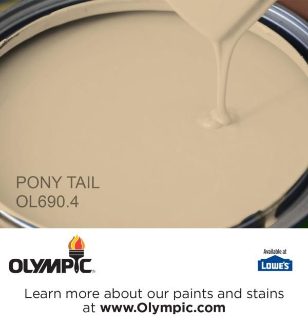 PONY TAIL OL690.4 is a part of the beiges collection by Olympic® Paint.  @olympicfinishes  for living room makeover @lowes  @sugarandcharm