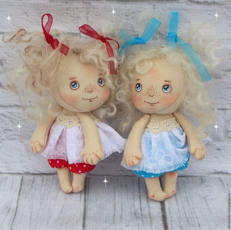 Купить Ангелочек к дню Святого Валентина. - комбинированный, красный, белый, голубой, ангел, ангелочек, ангелочки