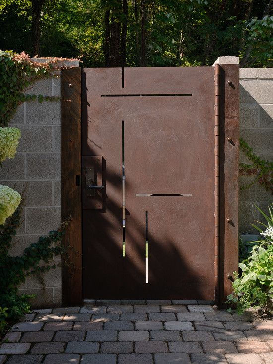 Fiberglass VS Steel Entry Door Reviews: Awesome Fiberglass Vs Metal Entry Door With Brick Floor And Stone Wall ~ jsdpn.com Doors Inspiration