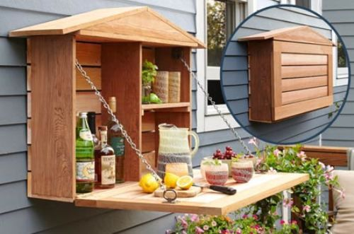 Perfect outside bar for limited space!