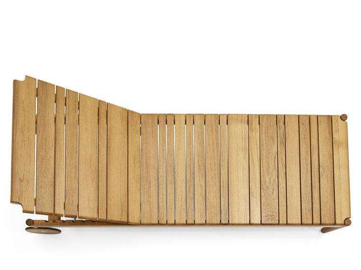 BARCODE Tumbona de jardín con ruedas by Varaschin diseño Alessandro Dubini
