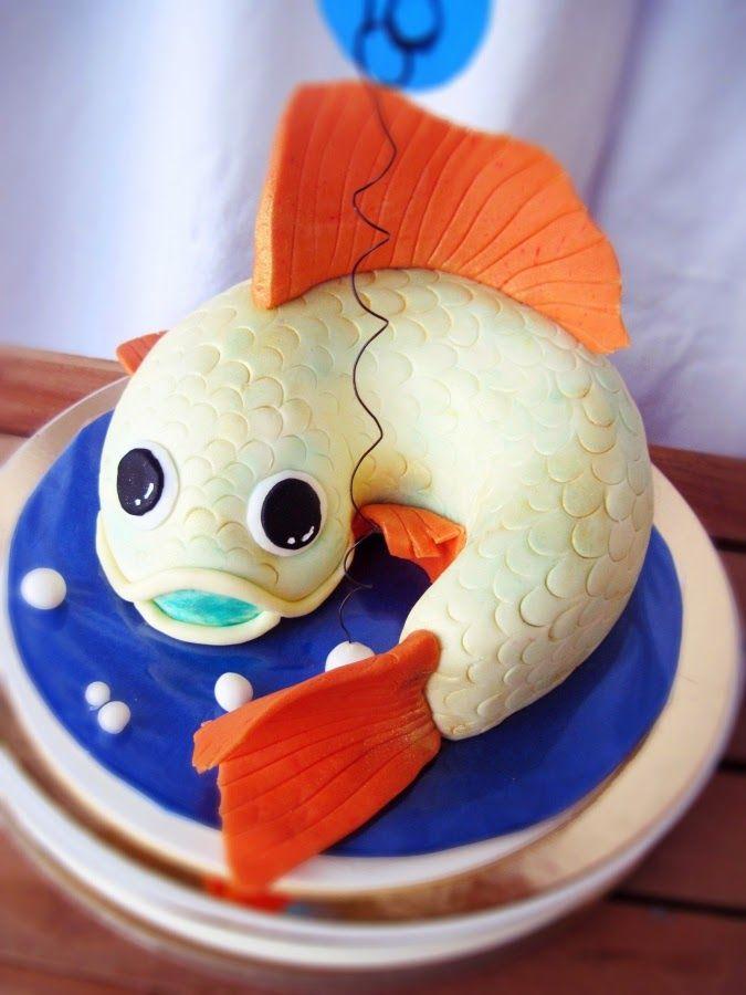 Tort urodzinowy: Złota Rybka