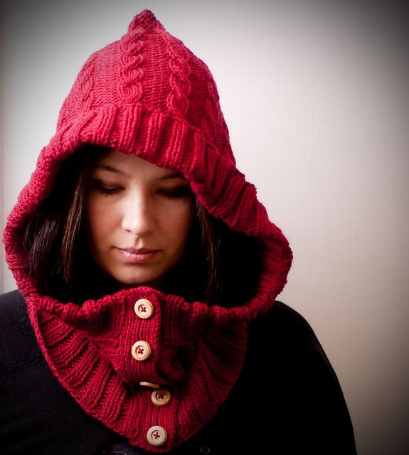 This cozy hooded cowl pattern is perfect for combating cold winds.  Get a copy of this knitting pattern for $3.50.