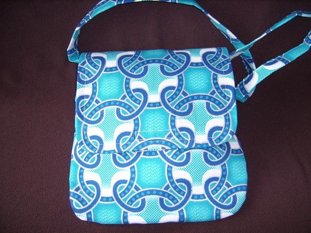 Sparkly Blue Shoulder Bag - Folksy