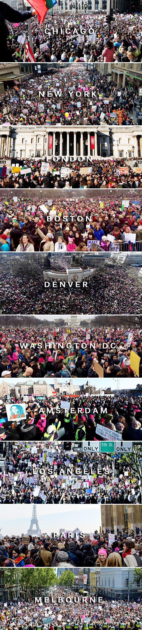 Women's March around the world [January 21, 2017]