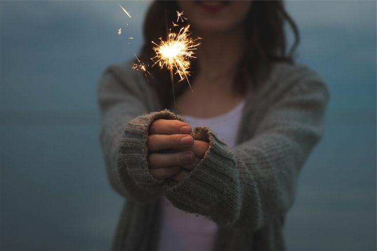 Fogos, Exploração, Mãos, Fogo De Artifício, Brilhos