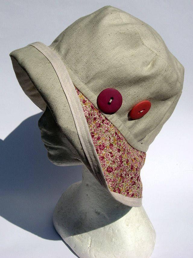 cappello donna elegante, feminile, falda larga, primaverile estivo,fatto a mano, cotone lino floreale, womens summer hat , chapeau ètè di Janecolori su Etsy